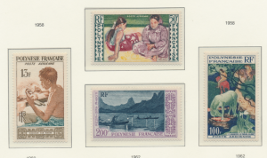 French Polynesia Stamps Scott #C-24 To C-27, Mint Hinged - Free U.S. Shipping...