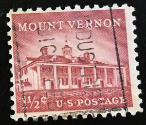 1032 Mt. Vernon, Circulated Single, Vic's Stamp Stash