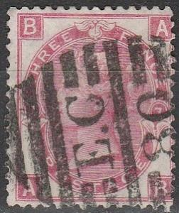 Great Britain #49 Plate 7 F-VF Used CV $65.00 (A7793)