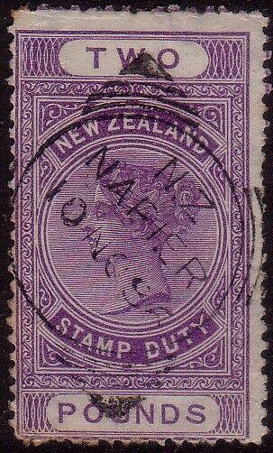NEW ZEALAND QV Long Type £2 postally used - ACS cat NZ$250.................41743