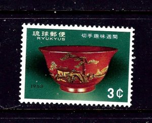 Ryukyu Is 112 MH 1963 issue