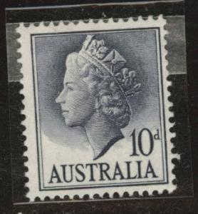 Australia  Scott 299 MNH** 1957 gray blue QE2
