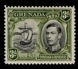 GRENADA GVI SG158, 3d black and olive-green, M MINT. Cat £21. PERF 12½
