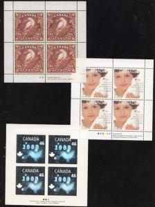 Canada - 1999 46c Hologram 55c Girl & 95c Dove Panes