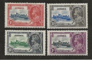 JAMAICA SC# 109-12  FVF/MOG