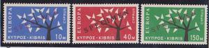 Cyprus - 1963 Europa Set of 3 Complete Ovpt SPECIMEN VF-NH