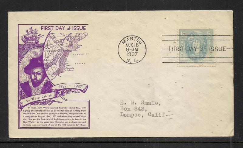 US #796-33a Dare WSE Dyer cachet addressed