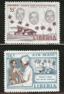 LIBERIA Scott C111-2 MNH**  airmail  stamps
