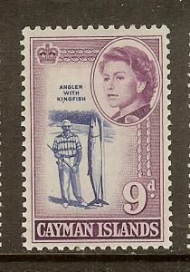 Cayman Islands, Scott #161, 9p Queen Elizabeth II, MH