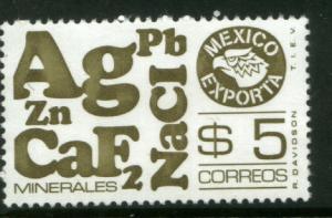MEXICO Exporta 1120, $5P Minerals Fluor Paper 6. MINT, NH. F-VF.