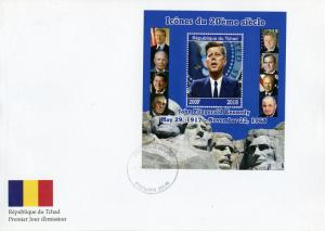 Chad 2018 FDC JFK John F Kennedy 1v M/S Cover US Presidents Famous People Stamps