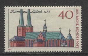 GERMANY. -Scott 1125 - Lubeck Cathedral Issue - 1973- MNH - Single 40pf Stamp