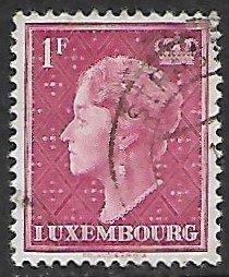 Luxembourg # 254 - Grand Duchesse Charlotte - 1F - used...(KlGr)
