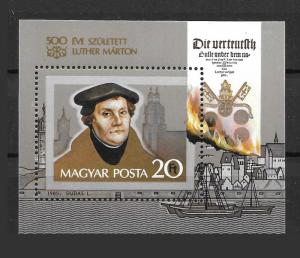 Hungary 2796 Martin Luther s.s. MNH