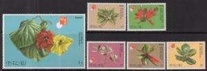 Palau 414-419 Flowers MNH VF