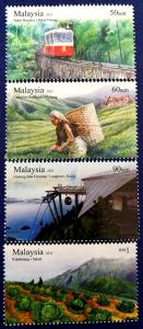 Malaysia Scott # 1341-4 Highland Tourist Spots Stamps Set MNH