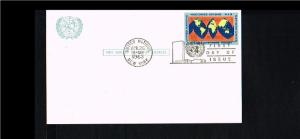 1963 - VN/UNO New York Pre-stamped card FDC - Transport - Airmail - 4c [GJ078]