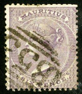 Mauritius Stamps # 36 Used VF Scott Value $45.00