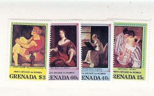 Grenada, 1058-61, Decade of Women (Paintings) Singles, MNH