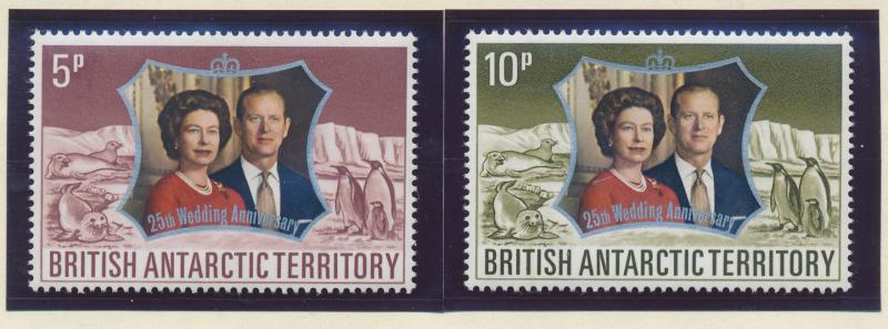 British Antarctic Territory (B.A.T.) Stamps Scott #43 To 44, Mint Never Hinge...