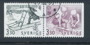 Sweden 1737 - 8 Used Attached Pair (5