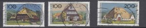J28643, 1995 germany hv.s of set used #b787-9 farm houses