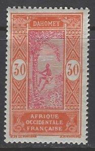 Dahomey, Scott #57; 30c Man Climbing Oil Palm, MH