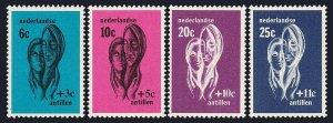 Netherlands Antilles B77-B80, MNH. Helping hands supporting women, 1967