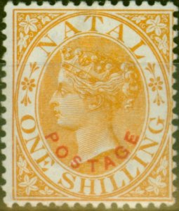 Natal 1888 1s Orange SG108 V.F Very Lightly Mtd Mint