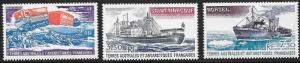 French Southern Antarctic Territories FSAT TAAF Scott C61-63 M NH Cat US$4.50