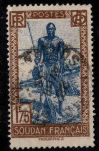 French Sudan Scott 93 Used stamp from 1931-1940 set