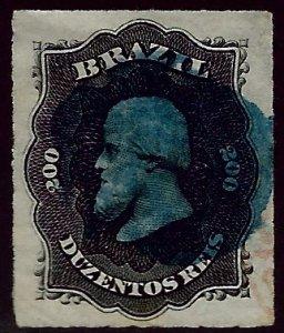 Brazil SC#66 Used VF+ Blue Cancel SCV$12+...Brazil is Hot!!