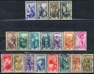 Italy 1950; Sc. # 549-567; O/Used Cpl Set