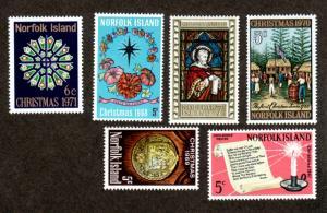 Norfolk Island 121,148,115,125,143,150 Mint NH Christmas!