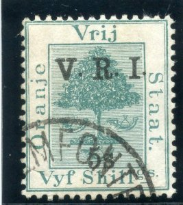 Orange Free State 1900 QV 5s on 5s green very fine used. SG 132.