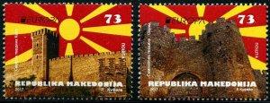HERRICKSTAMP NEW ISSUES MACEDONIA Sc.# 745-46 Europa 2017 Castles