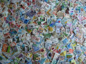 Indonesia scrap pile duplicates, mixed condition, estimate 1400 see pictures!