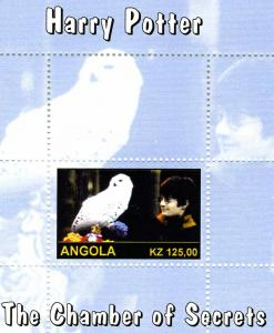 Angola 2000 Harry Potter Blue s/s Perforated mnh.vf