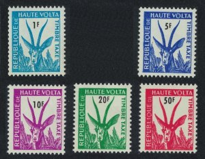 Upper Volta Red-fronted Gazelle Postage Due 5v 1962 MNH SG#D95-D100