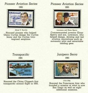 1985 Airmail Sc C113 thru C116 MNH singles set of 4