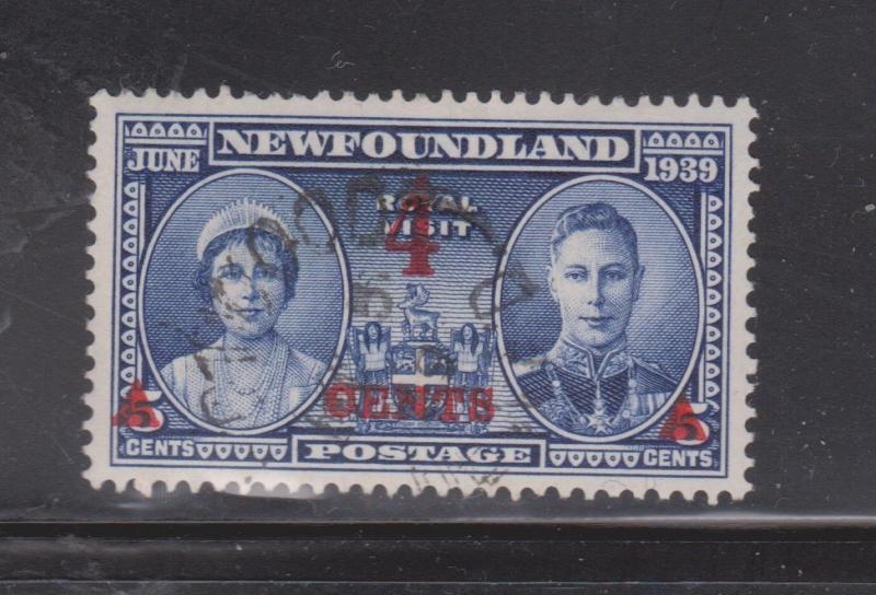 NEWFOUNDLAND Scott # 251 Used - OENTS Variety In Overprint