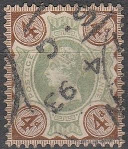Great Britain #116  F-VF Used CV $15.00 (D720)