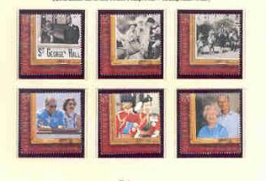 Guernsey Sc 603-8 1997 50th anniv Royal Wedding QE II sta...