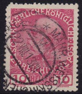 Austria - 1908 - Scott #115 - used - MÄHR. WEISSKIRCHEN pmk Czech Republic