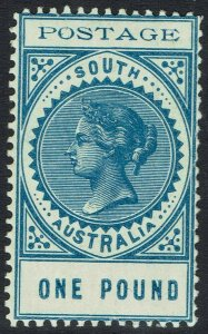 SOUTH AUSTRALIA 1902 QV THIN POSTAGE 1 POUND