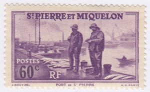 St Pierre & Miquelon, Sc 186, MLH, 1939, Port St. Pierre