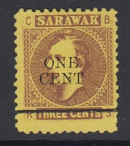 SARAWAK, Scott 25, MNG (no gum)