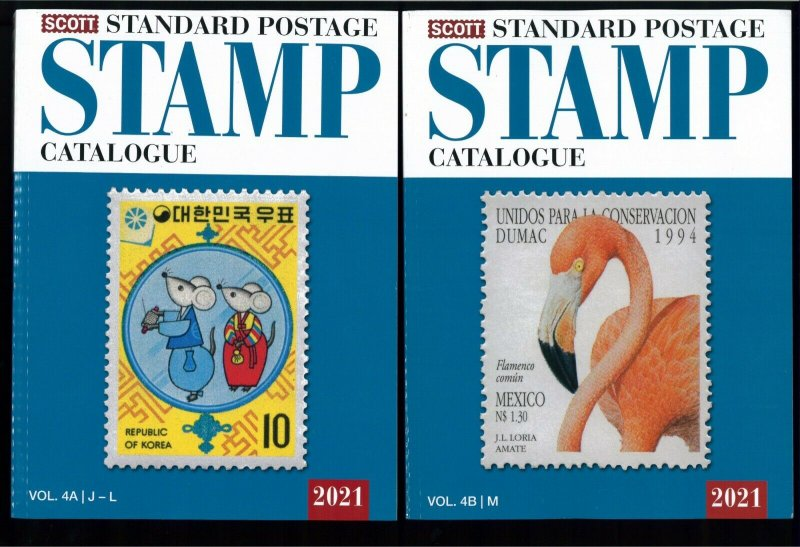 New 2021 Scott Standard Postage Stamp Catalogue - Worldwide (J-M) Volume 4