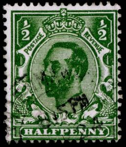 SG322 SPEC N1(-), ½d INTENSE green, DIE A, FINE USED. Cat UNLISTED