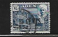 ADEN, 22, USED, 1951 ISSUE SURCHD